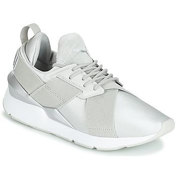 Cipők Női Rövid szárú edzőcipők Puma WN MUSE SATIN II.GRAY Szürke