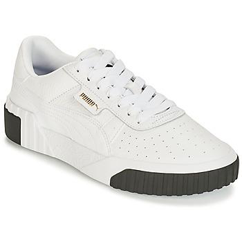 Cipők Női Rövid szárú edzőcipők Puma CALI Fehér / Fekete