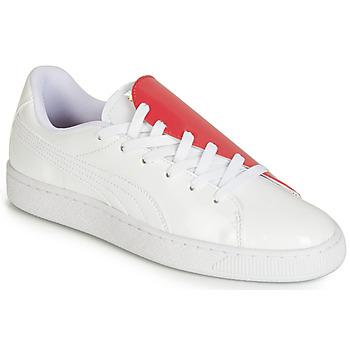 Cipők Női Rövid szárú edzőcipők Puma WN BASKET CRUSH.WH-HIBISCU Fehér