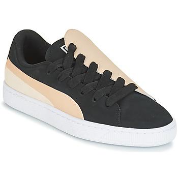 Cipők Női Rövid szárú edzőcipők Puma WN BASKET CRUSH PARIS.SILV Fekete