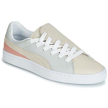 Cipők Női Rövid szárú edzőcipők Puma WN BASKET CRUSH PARIS.GRAY Bézs