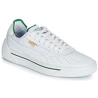 Cipők Férfi Rövid szárú edzőcipők Puma CALI.WH-AMAZON GREEN-WH Fehér / Zöld
