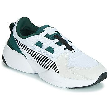Cipők Férfi Rövid szárú edzőcipők Puma ZETA SUEDE.WHITE-PONDEROSA Fehér