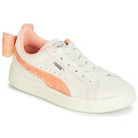 Cipők Lány Rövid szárú edzőcipők Puma PS SUEDE BOW JELLY AC.WHIS Bézs