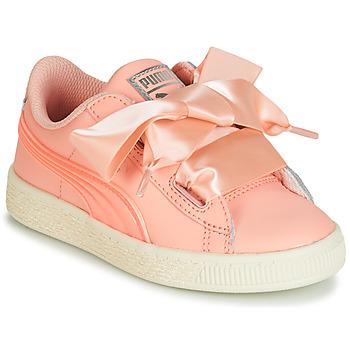Cipők Lány Rövid szárú edzőcipők Puma PS BASKET HEART JELLY.PEAC Rózsaszín