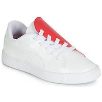 Cipők Lány Rövid szárú edzőcipők Puma PS BKT CRUSH PATENT AC.W-H Fehér