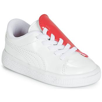 Cipők Lány Rövid szárú edzőcipők Puma INF B CRUSH PATENT AC.W-H Fehér