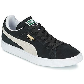 Cipők Rövid szárú edzőcipők Puma SUEDE CLASSIC Fekete  / Fehér