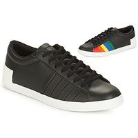 Cipők Női Rövid szárú edzőcipők Le Coq Sportif FLAG Fekete  / Sokszínű
