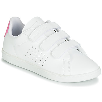 Cipők Lány Rövid szárú edzőcipők Le Coq Sportif COURTSET PS Fehér / Rózsaszín
