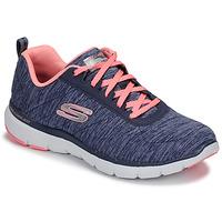 Cipők Női Fitnesz Skechers FLEX APPEAL 3.0 Tengerész / Rózsaszín