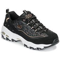 Cipők Női Rövid szárú edzőcipők Skechers D'LITES GLAMOUR FEELS Fekete