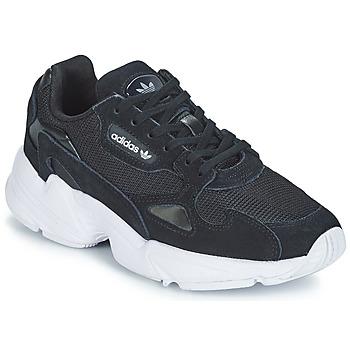 Cipők Női Rövid szárú edzőcipők adidas Originals FALCON W Fekete