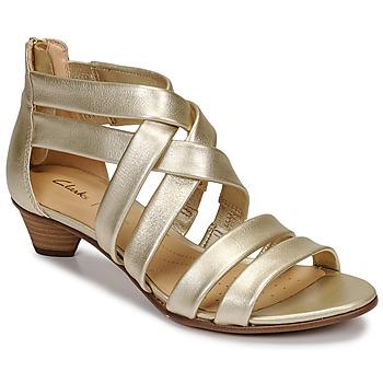 Cipők Női Szandálok / Saruk Clarks MENA SILK Pezsgő