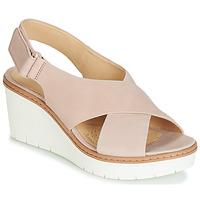 Cipők Női Szandálok / Saruk Clarks PALM CANDID Bőrszínű