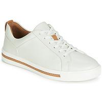 Cipők Női Rövid szárú edzőcipők Clarks UN MAUI LACE Fehér