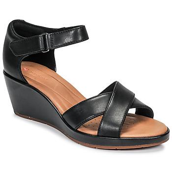Cipők Női Szandálok / Saruk Clarks UN PLAZA CROSS Fekete