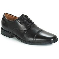 Cipők Férfi Oxford cipők Clarks TILDEN CAP Fekete