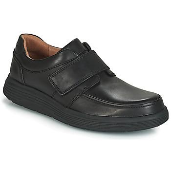 Cipők Férfi Oxford cipők Clarks UN ABODE STRAP Fekete