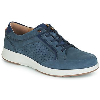 Cipők Férfi Rövid szárú edzőcipők Clarks UN TRAIL FORM Tengerész