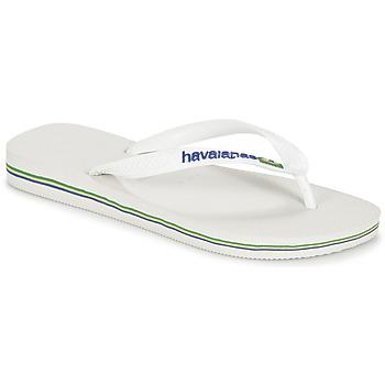 Cipők Lábujjközös papucsok Havaianas BRASIL LOGO Fehér