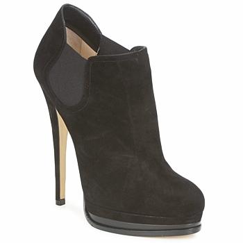 Cipők Női Bokacsizmák Casadei 8532G157 Fekete