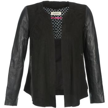 Ruhák Női Bőrkabátok / műbőr kabátok Naf Naf COCOTTE Fekete