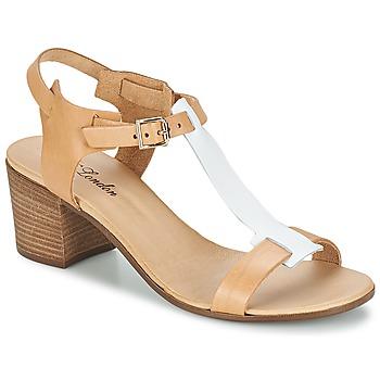 Cipők Női Szandálok / Saruk Betty London GANTOMI Teve / Fehér