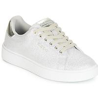Cipők Lány Rövid szárú edzőcipők Kappa SAN REMO KID Fehér / Ezüst