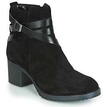 Cipők Női Csizmák André MIDWEST Fekete