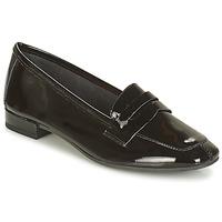 Cipők Női Mokkaszínek André NEMOURS 2 Fekete