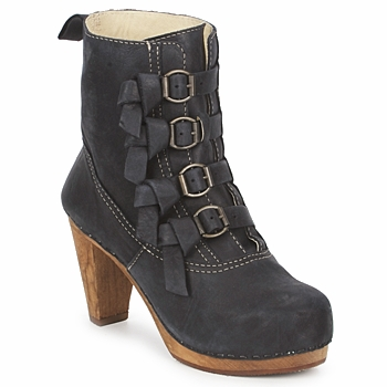Cipők Női Bokacsizmák Sanita ELM CONE Fekete