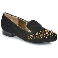 Cipők Női Mokkaszínek Lola Ramona PENNY Fekete  / Arany