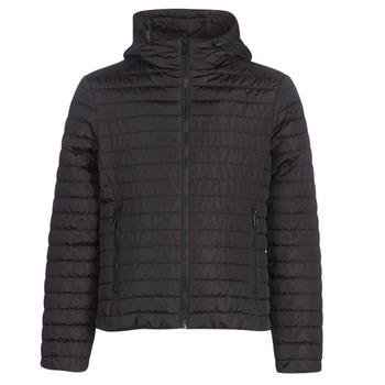 Ruhák Férfi Steppelt kabátok Geox TIRPIRUNE Fekete