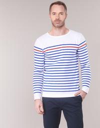 Ruhák Férfi Hosszú ujjú pólók Armor Lux YAYAYOUT Fehér / Kék / Piros