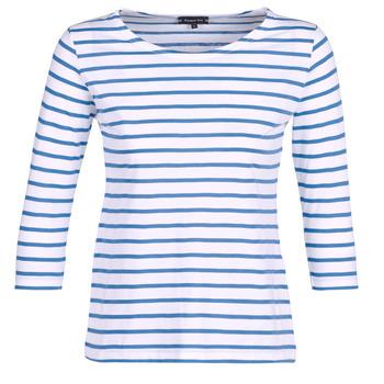 Ruhák Női Hosszú ujjú pólók Armor Lux YAYAROULE Fehér / Kék