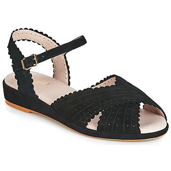 Cipők Női Szandálok / Saruk Miss L'Fire BRIGITTE Fekete