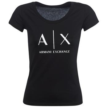 Ruhák Női Rövid ujjú pólók Armani Exchange HELBATANTE Fekete