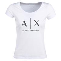 Ruhák Női Rövid ujjú pólók Armani Exchange HELIAK Fehér