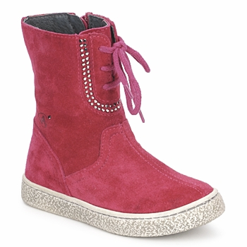 Cipők Lány Csizmák Naturino VELOUR Málna