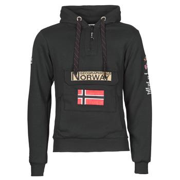 Ruhák Férfi Pulóverek Geographical Norway GYMCLASS Fekete