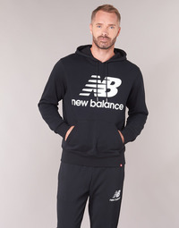 Ruhák Férfi Pulóverek New Balance NB SWEATSHIRT Fekete