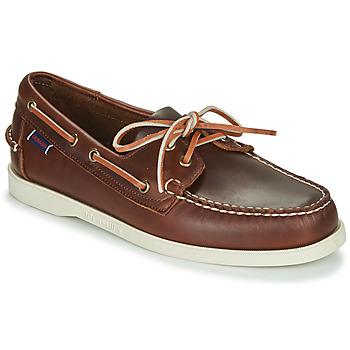 Cipők Férfi Vitorlás cipők Sebago DOCKSIDES PORTLAND WAXED Barna