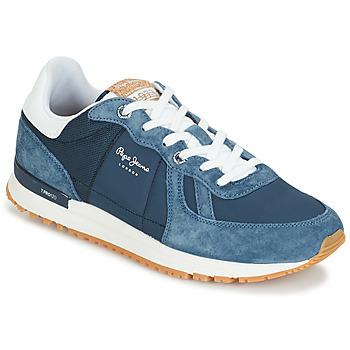 Cipők Férfi Rövid szárú edzőcipők Pepe jeans TINKER PRO Kék