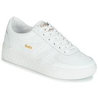 Cipők Női Rövid szárú edzőcipők Gola GRANDSLAM LEATHER Fehér