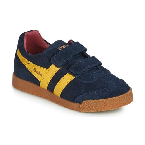 Cipők Gyerek Rövid szárú edzőcipők Gola HARRIER VELCRO Kék