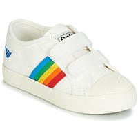 Cipők Gyerek Rövid szárú edzőcipők Gola COASTER RAINBOW VELCRO Fehér