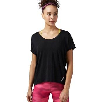 Ruhák Női Rövid ujjú pólók Reebok Sport One Series Burnout Fekete