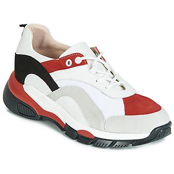 Cipők Női Rövid szárú edzőcipők Tosca Blu KELLY Fehér / Piros