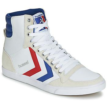 Cipők Magas szárú edzőcipők Hummel TEN STAR HIGH CANVAS Fehér